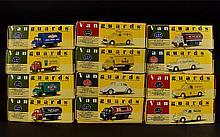 A Collection Of Vanguards Cars 12 in total. Including Kodak Bedford ''S'' Type Van, Ovaltine Morris Minor Van, Cleveland Motor Spirit, Shell-BP Tanker, VW Beige Beetle, North Eastern Gas Tanker, Automobile Association Morris Minor Van, Automobile