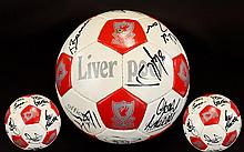 Liverpool Football Club Autograph Interest Legends Signed Football An official L.F.C football extensively signed by several players for example Daglish, Barnes, Rush, Beardsley, Grobbellar, Nicol, Tanner, Yeats, Weelan, Burrows, Molby, Jones etc. The