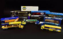 A Collection Of Boxed Corgi Vehicles. Including Guiness- Scania 4 Wheel Rigid Lorry and Close Couple Trailer, Sainsbury's Lorry, Guiness Volvo Tanker, Champions Of Track and Field Super Haulers, Mr Kiplings Super Haulers, Scania Curtainside- Knights