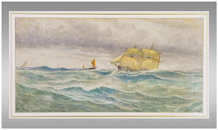Seascape by G.B.P. Lillingston (1850 - 1932)