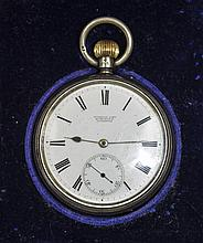 Edwardian Silver Open Faced Pocket Watch. Hallmark Birmingham 1906, Nice Co