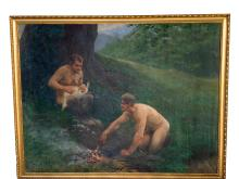 RICHARD MAUCH, SATYRS IN LANDSCAPE