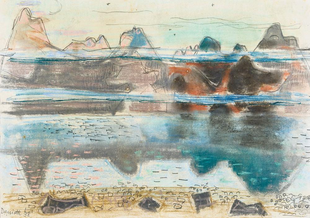 Heinrich Danioth - Altdorf 1896–1953 Flüelen - «Urner Berglandschaft» – (1938)