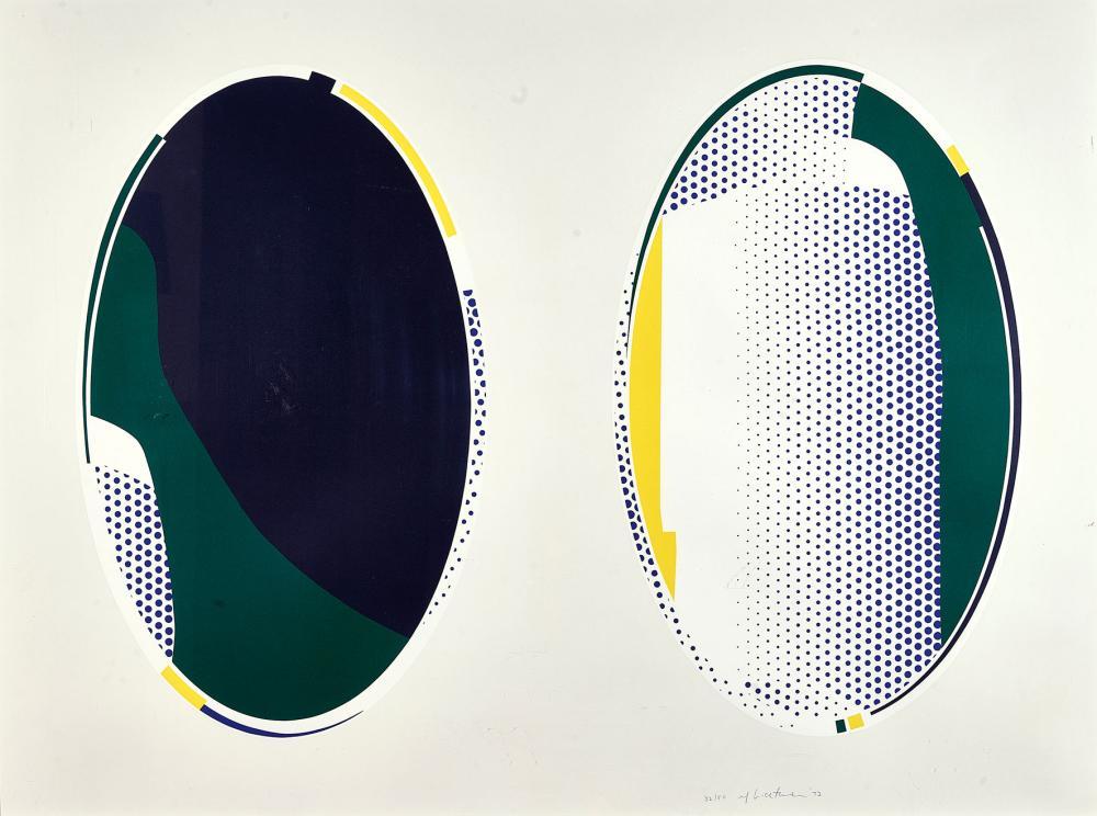 Roy Lichtenstein - New York 1923–1997 New York - «Mirror # 8, aus Mirror Series» − 1972