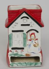 Two Little Red Riding Hood match stick holders