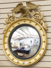 Classic Federal style Eagle convex gold guild