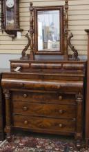 Period empire dresser with mirror