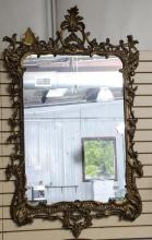 Large gold mirror; original frame