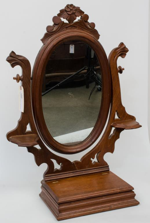 Mahogany shaving / dressing mirror
