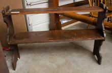 Two tiered hanging shelf- old surface