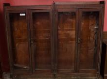 Side by side glass front book case- ca. 1910