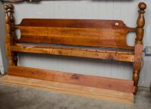 King size bed- cherry rails, custom bed