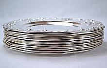 Gorham Sterling Silver Plates (Set of 12)
