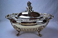 John & Henry Lias Victorian Sterling Soup Tureen 1847
