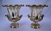 Elkington Silver Plated Wine Coolers (Pair) 1880
