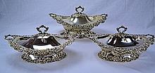 Redlich Sterling Silver Serving Dishes (Set of 3)