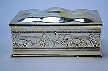 Gorham Sterling Silver Greco-Roman Decorated Box 1909