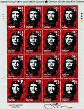 Jim Fitzpatrick Che Guevara Stamp Sheetlet