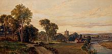 John Faulkner  Cowley Near Uxbridge  Watercolour
