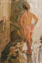Colin Davidson  Female Nude Study  Oil on Canvas