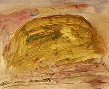 Basil Blackshaw  Yellow Hill  Mixed Media on Paper