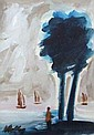 Markey Robinson. Looking out to Sea. Oil