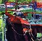 Gary Devon. The Mooring. Acrylic on Board