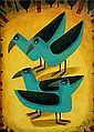 Graham Knuttel. Blue Birds. Oil on Canvas