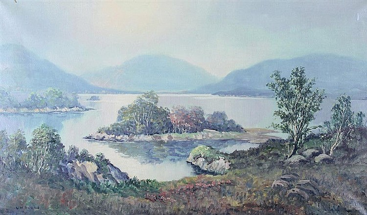 W H Burns - The Middle Lake, Kilarney