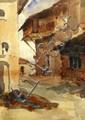 Roderic O' Connor Street Scene Watercolour 12