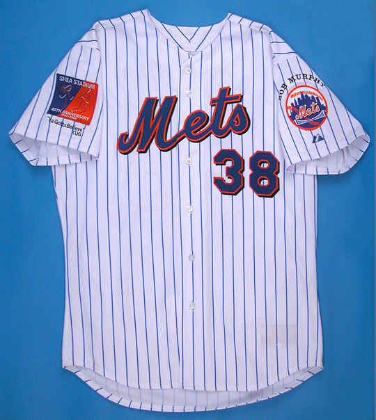 2004 Victor Zambrano Mets Game Jersey with McGraw & Murphy Tribute Patches