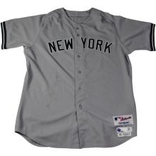 2015 New York Yankees #42 Jackie Robinson Day Game Worn Jersey - Joe Girardi