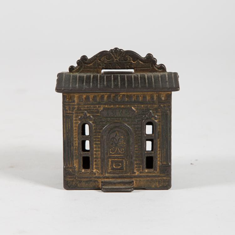 A Cast Iron Philadelphia Centennial Exposition Still Bank 1