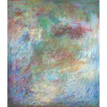 Al Newbill (1921-2011) Drifting Forms, 1972-73, Oil on canvas,
