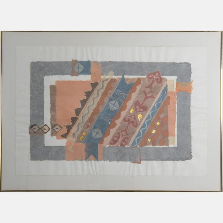 Donna Hollen-Bolmgren (b. 1935) Apricot Infusion, Handmade cotton pulp paper,