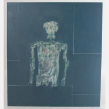 Al Newbill (1921-2012) Studio Visitation, Oil on canvas,