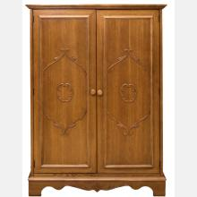 An American Oak and Cedar Lined Cabinet, 20th Century.
