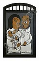 Reverend Albert Wagner (1924 - 2006) Family Can Be Real, Mixed media including acrylic paint, ink, oil stick, and graphite on cardbo...