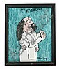 Reverend Albert Wagner (1924 - 2006) We Always Pray Togeather, Mixed media including acrylic paint, ink, oil stick, and graphite on...