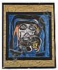 Reverend Albert Wagner (1924 - 2006) We Must Go On, Mixed media including acrylic paint, ink, oil stick, and graphite on chipboard,
