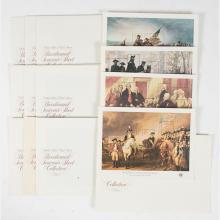 A Collection of Ten Complete Souvenir Stamp Sheets, 1976 (Bicentennial),