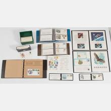 A Collection of Six Philatelic Albums of Worldwide Stamp Covers,