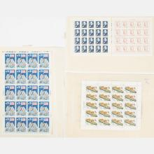 A Group of Four Full Stamp Sheets,