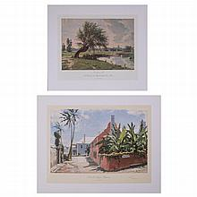John Stobart (b. 1929) Two Works, Colored lithograph,