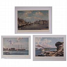 John Stobart (b. 1929) A Collection of Three Works, Colored lithograph,