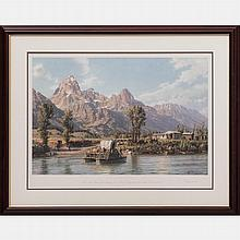 John Stobart (b. 1929) Jackson Hole, Lithograph,