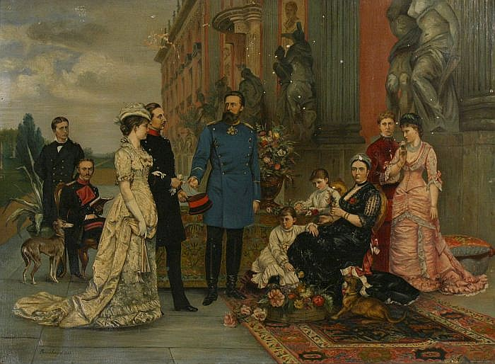 Joseph Bernhardt (1805-1885) Royal Family Portrait, Oil on canvas,