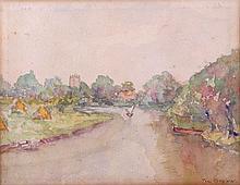 Thomas E. Brown (1881-1938) Seascape, Watercolor on paper,