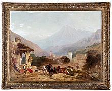 James Duffield Harding (Hardy) (1798-1863) Alpine Landscape, Oil on canvas, laid on board,