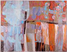 Whiteside (20th Century) Machinescape, Oil on canvas,